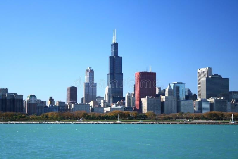Chicago-Skyline und Sears Tower lizenzfreie stockfotos