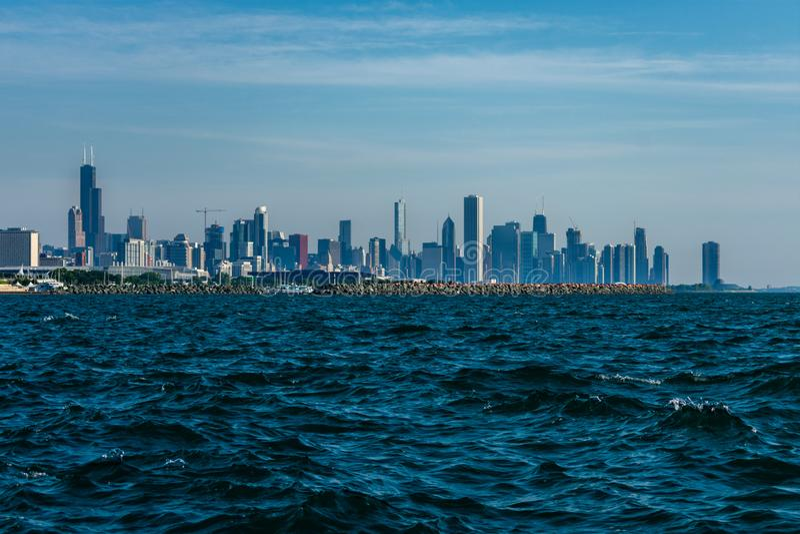 Chicago-Skyline von der Südseite lizenzfreies stockfoto