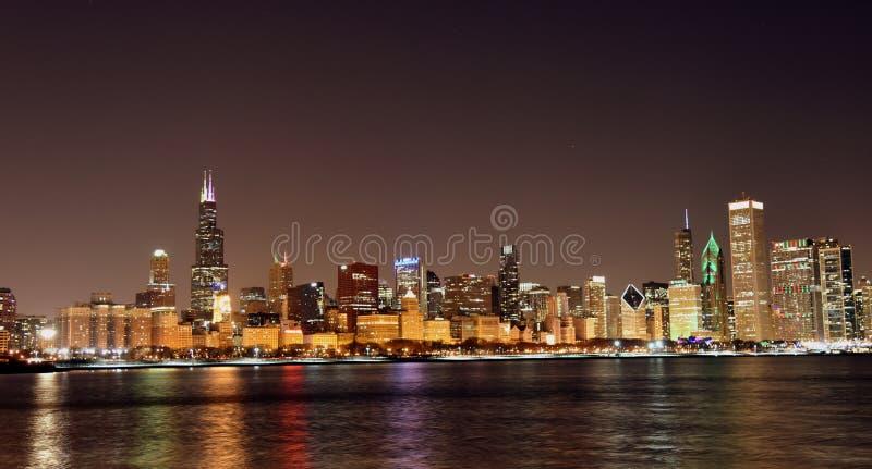 Chicago-Skyline von Olive Park lizenzfreies stockfoto