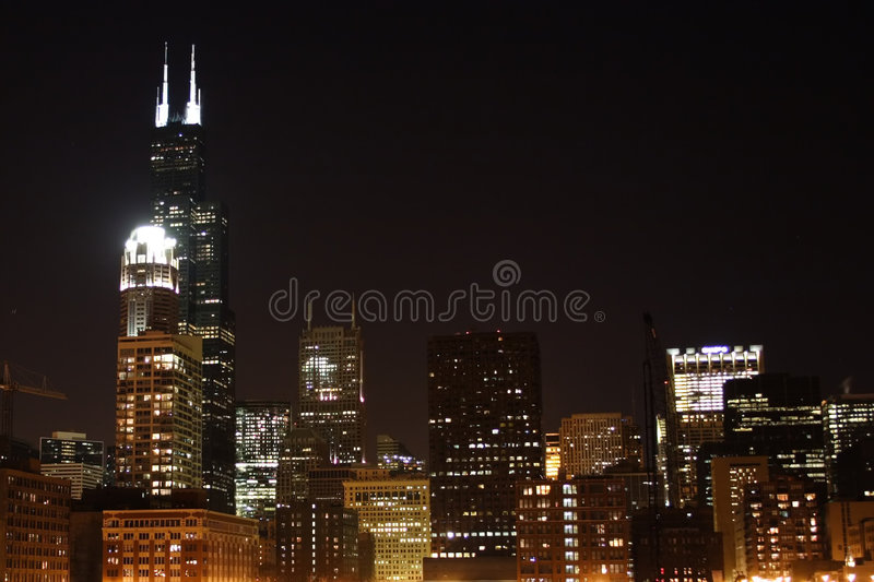 Chicago skyline1 lizenzfreie stockfotografie