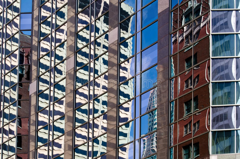 Chicago skyscraper reflection royalty free stock photos