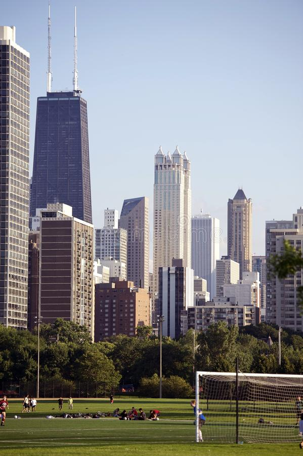 Download Chicago Soccer stock photo. Image of skyscrapers, chicago - 25963092