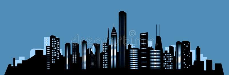 chicago stadshorisont vektor illustrationer