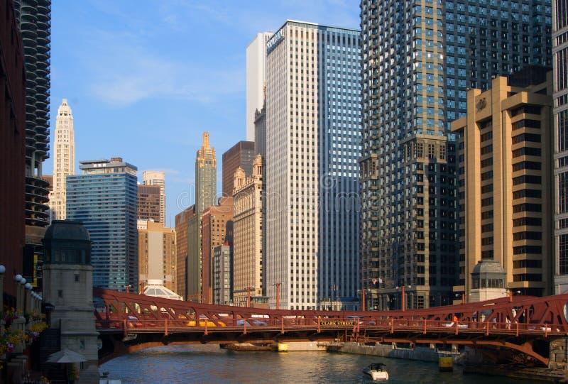 chicago stadssikt fotografering för bildbyråer