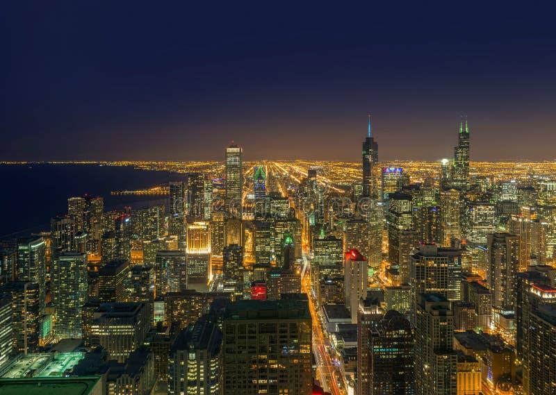 Chicago-Stadt, Chicago, Illinois, USA stockbilder