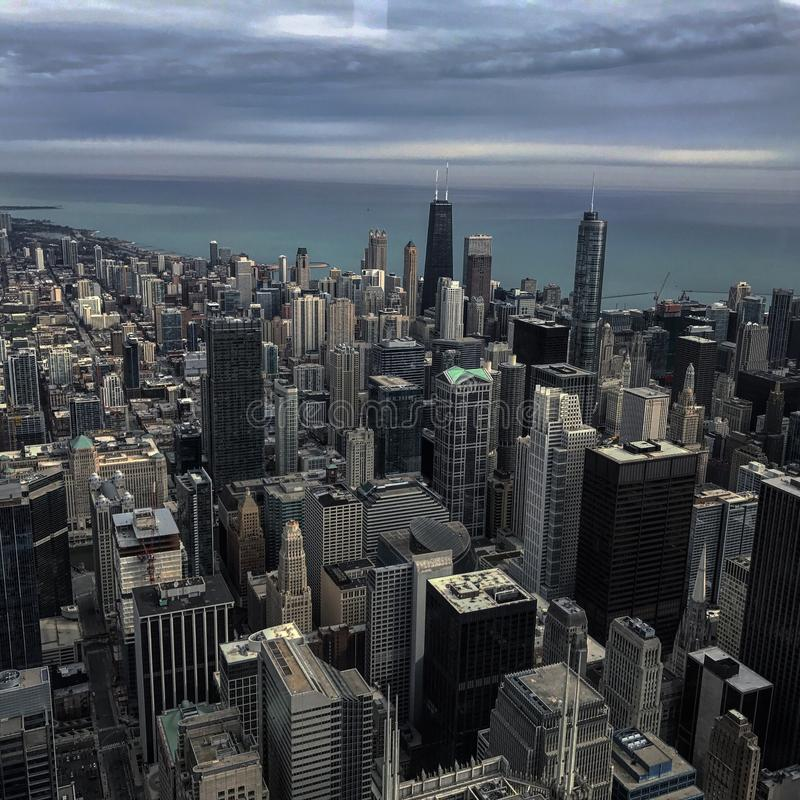 Chicago-Stadtskyline stockfotos