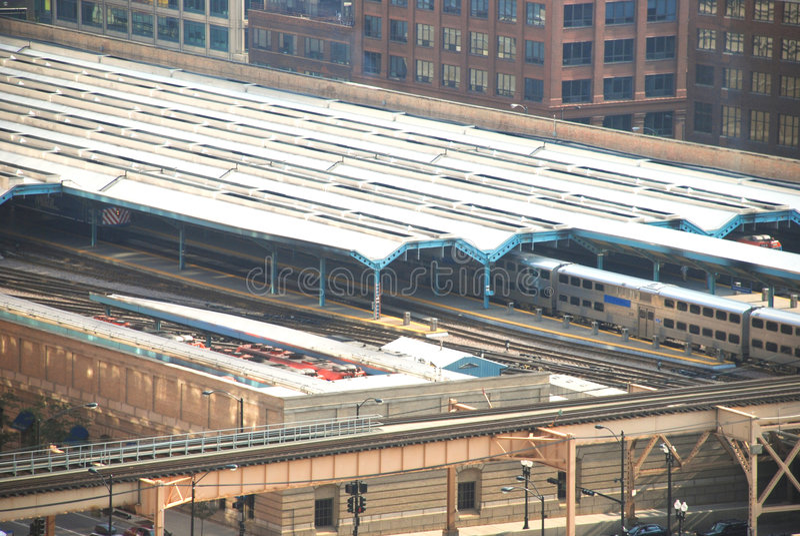 chicago stationsunion arkivfoton