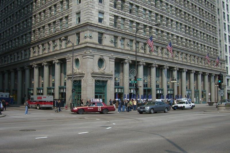 Chicago-Straßenecke stockbild