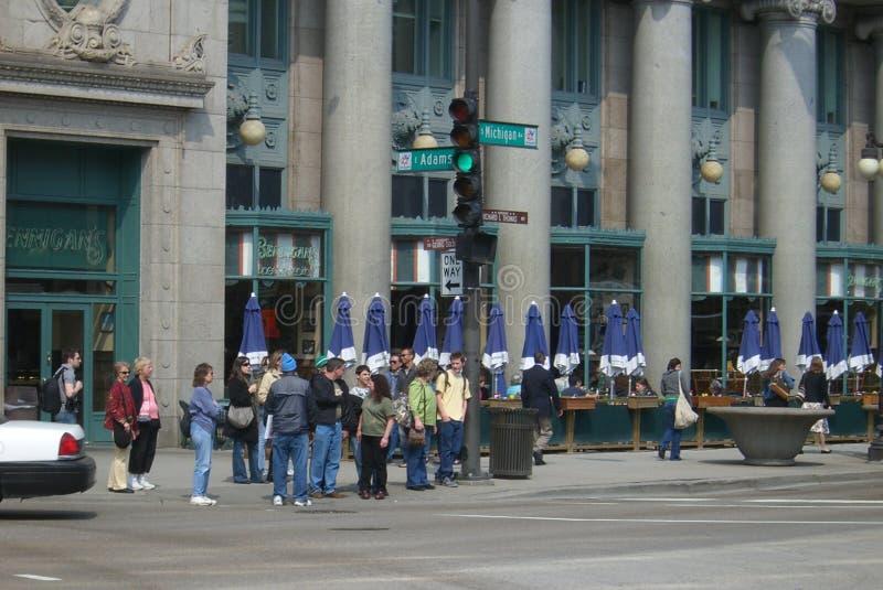 Chicago-Straßenecke lizenzfreies stockfoto