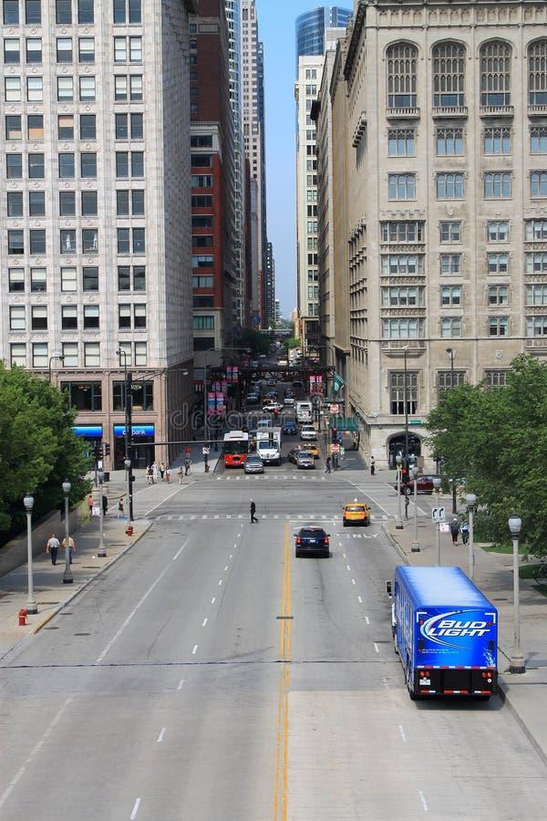 Chicago-Straßenecken lizenzfreies stockfoto