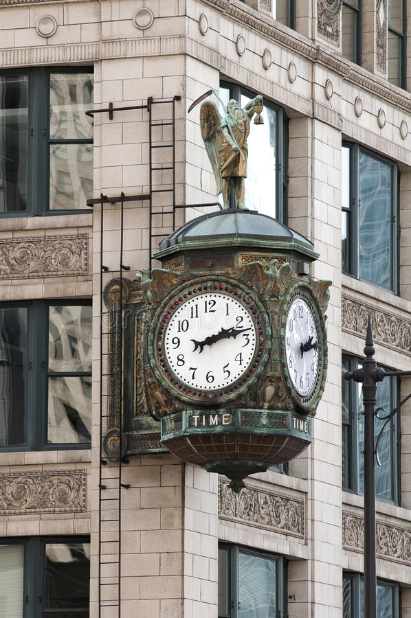 Chicago Street Clock Royalty Free Stock Image