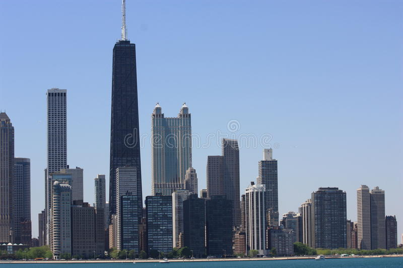 Chicago in the Summer royalty free stock photos