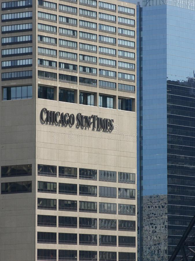 The Chicago Sun Times Building. royalty free stock photo