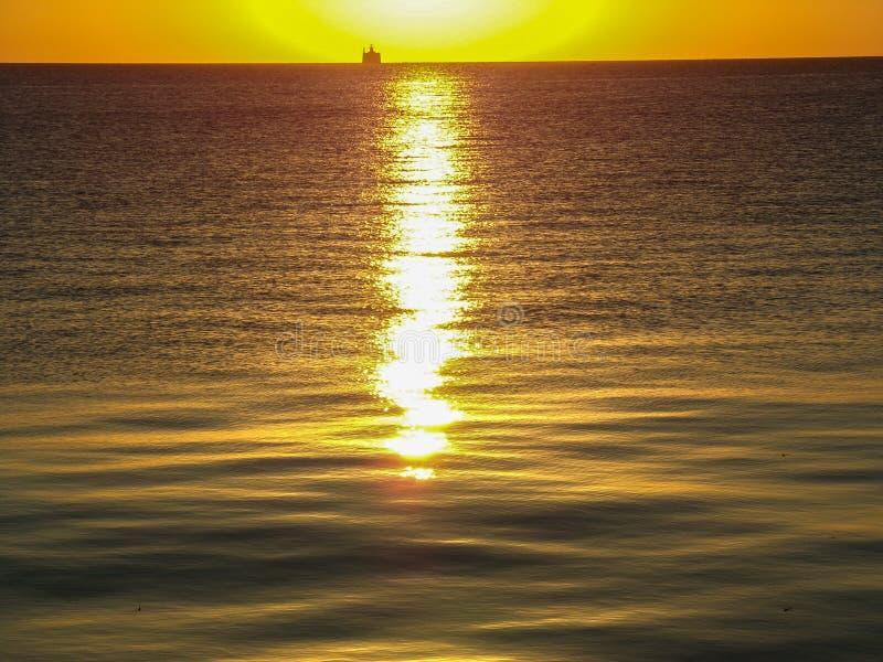 Chicago Sunrise, Lake Michigan stock photography