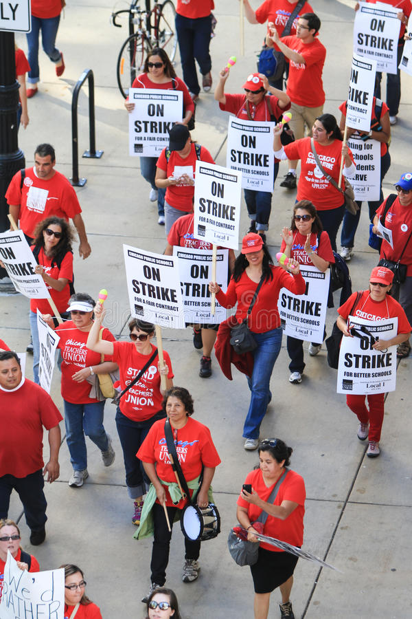 Chicago Teachers Strike 2012 Editorial Stock Photo