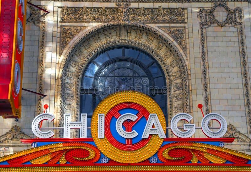 Chicago teater i Chicago, Illinois arkivfoton