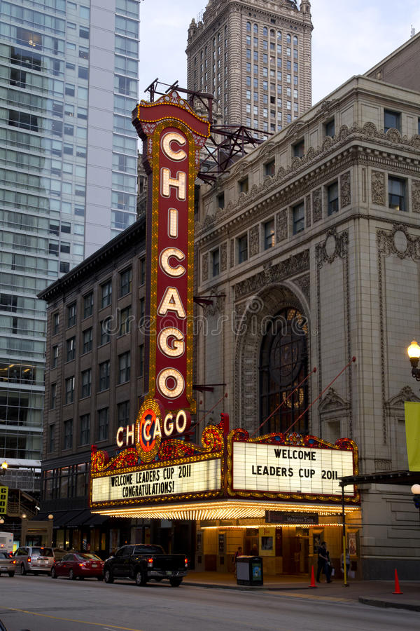 chicago teatr obrazy royalty free