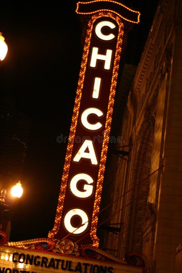 chicago tecken royaltyfria foton