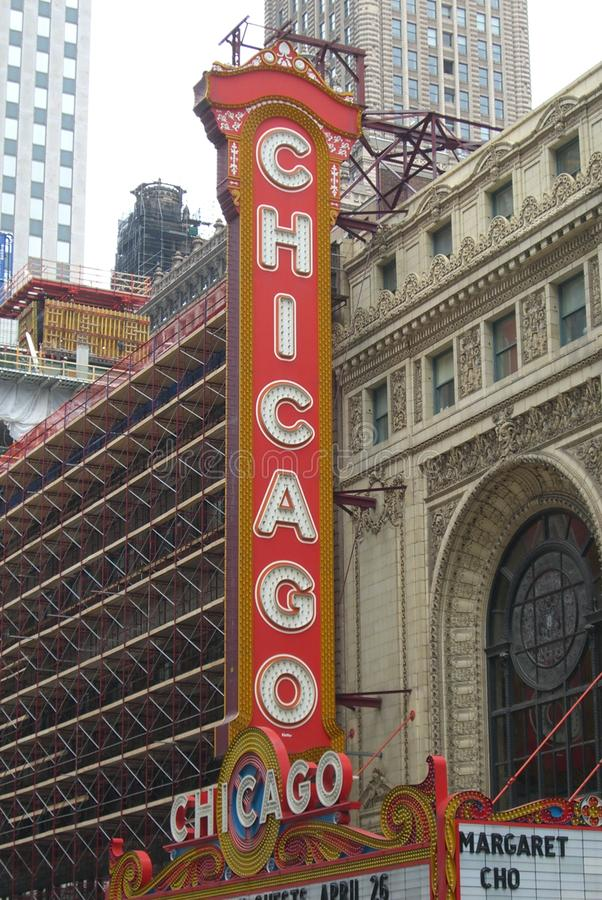 Chicago-Theater stockfotografie