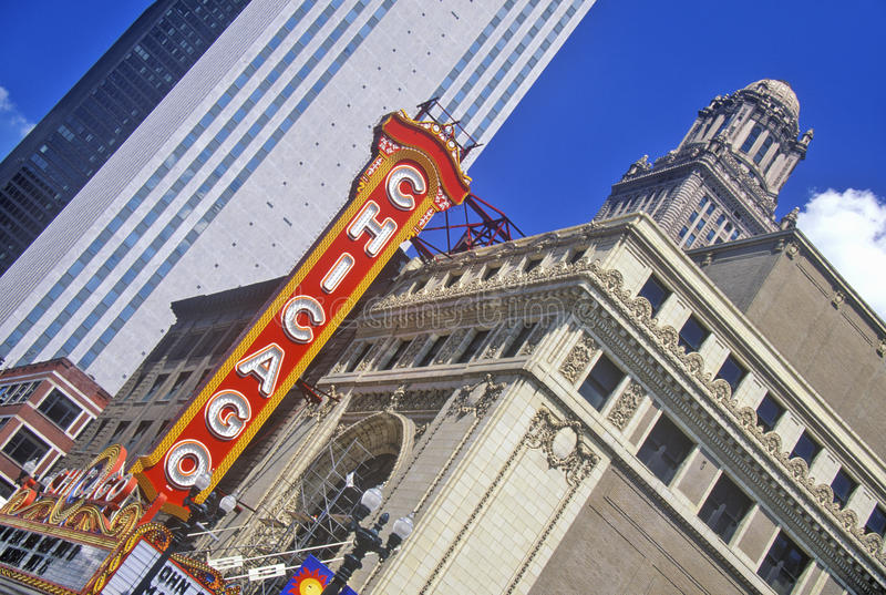 Chicago Theater, Chicago, Illinois royalty free stock photo