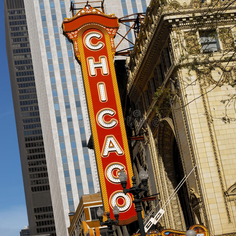 Chicago - Theater District - USA royalty free stock photos