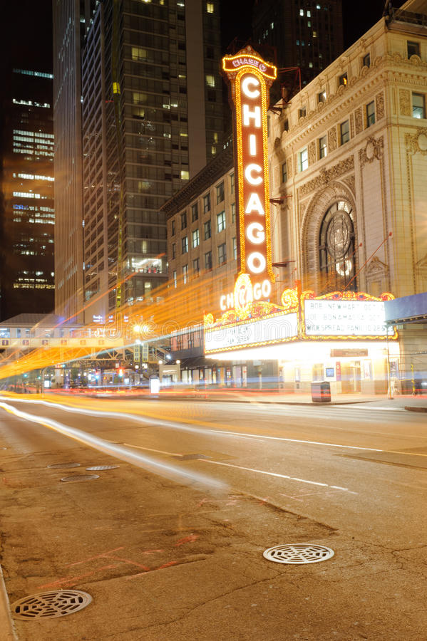 Chicago Theater stock photos
