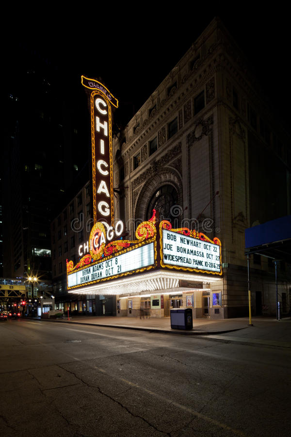 Chicago theater sign royalty free stock images
