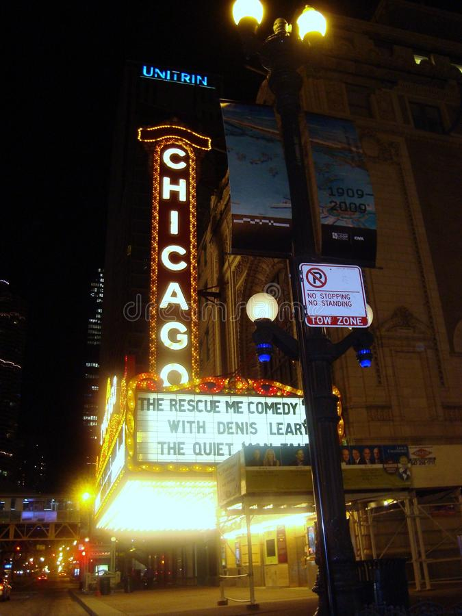 Chicago Theatre Illinois royalty free stock photography