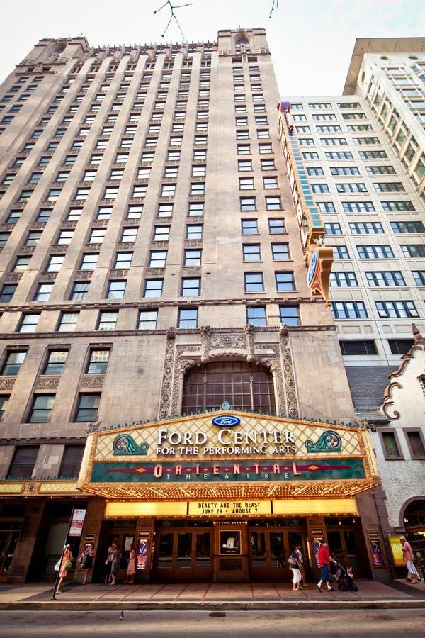 chicago theatre Oriental zdjęcia stock