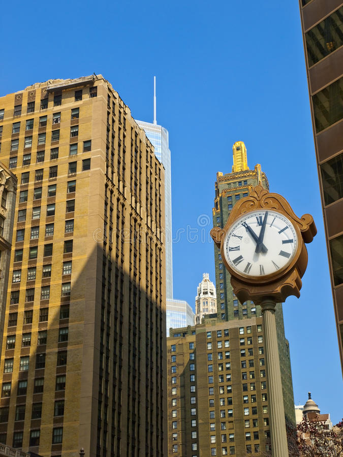 Chicago Time Stock Photography
