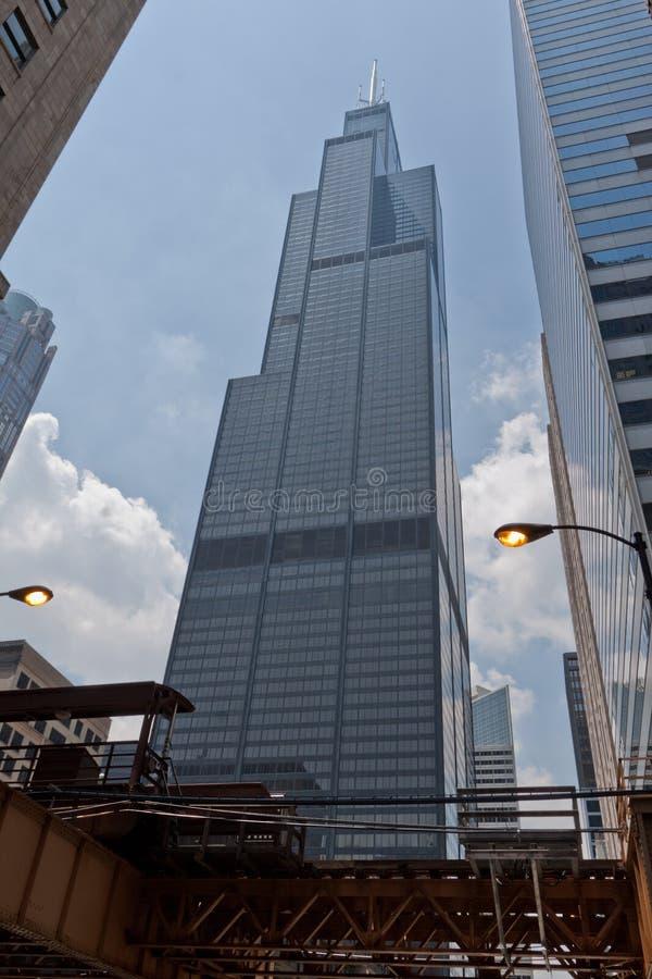 chicago tornwillis royaltyfri fotografi