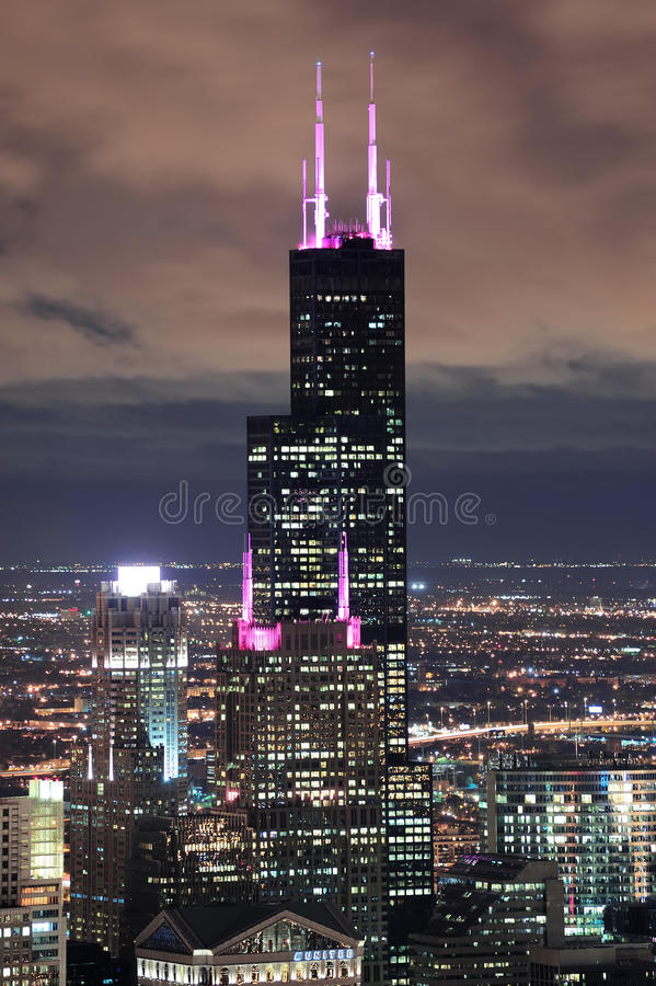 chicago tornwillis royaltyfri bild