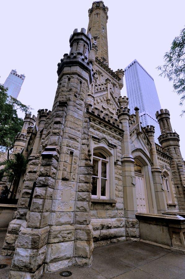 Chicago, torre de agua vieja imagen de archivo