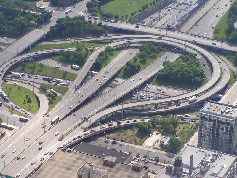 chicago trafik arkivbilder