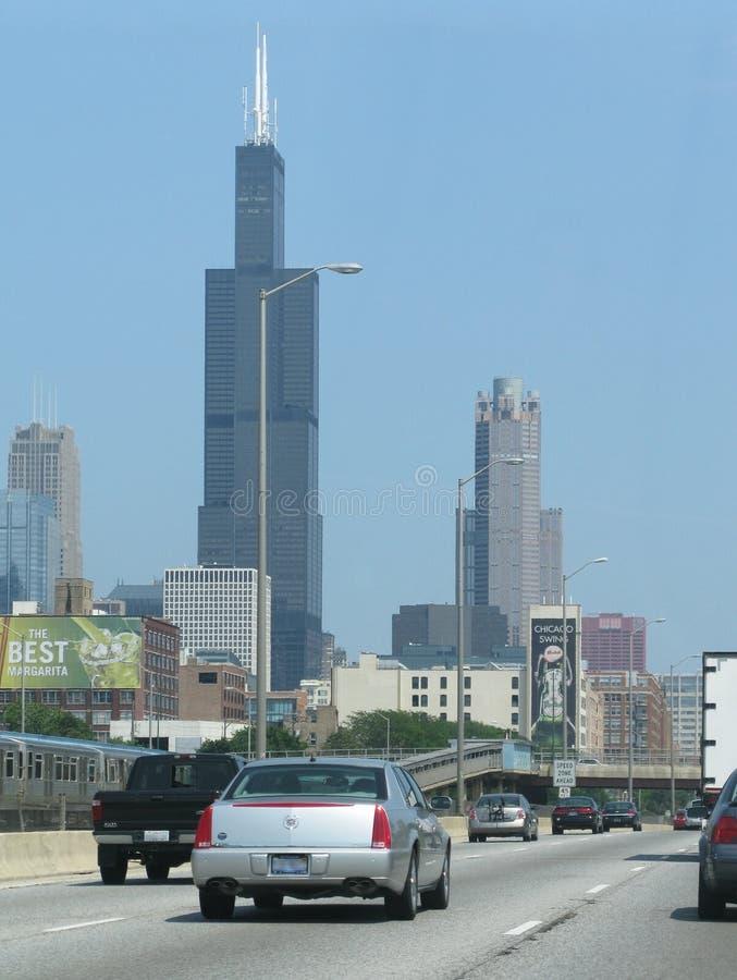 Chicago trafik arkivfoton