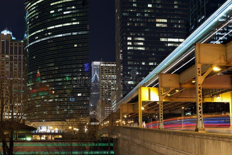 chicago trans. fotografering för bildbyråer