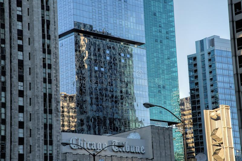 Chicago Tribune Building royalty free stock images