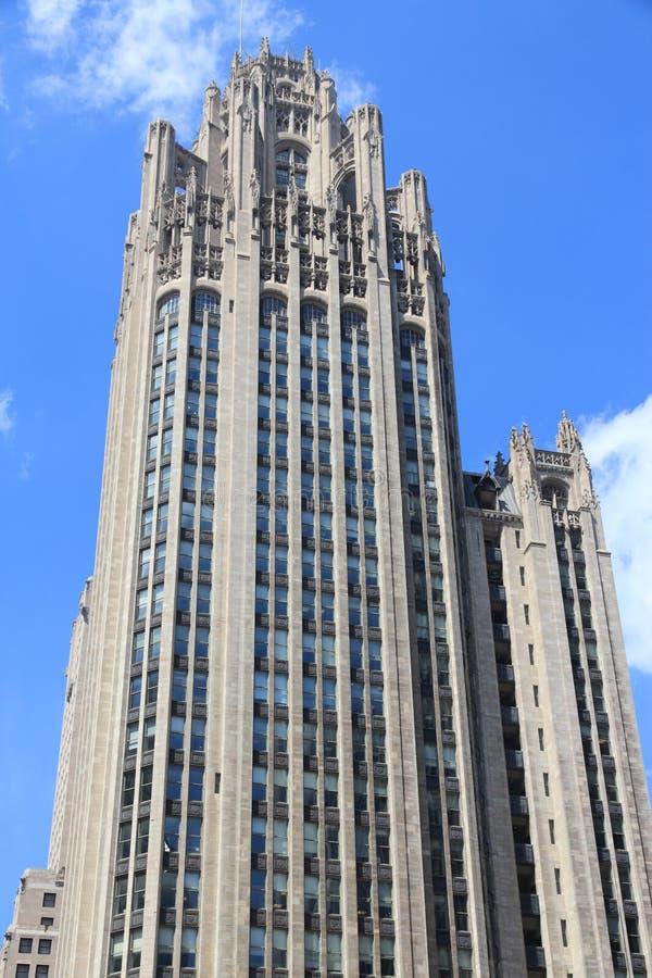 Chicago Tribune si eleva fotografia stock libera da diritti