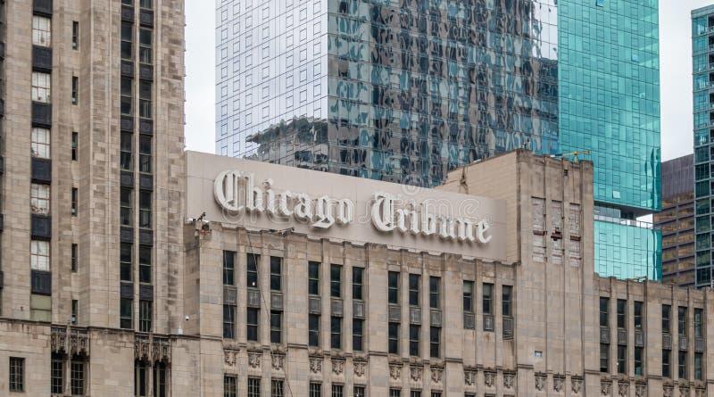 Chicago Tribune Zeitung in Chicago, Illinois, USA stockfoto