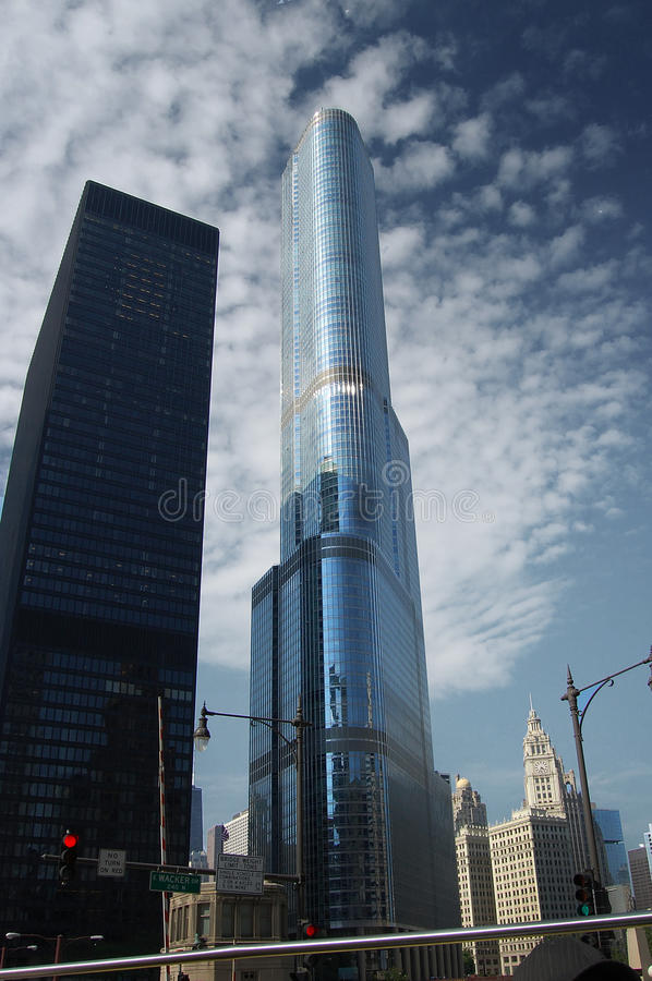 Chicago Trump Tower royalty free stock image