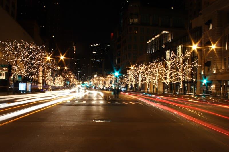 chicago ulic fotografia stock