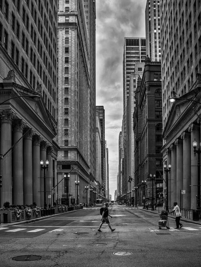 CHICAGO, USA, am 10. August 2017 Leute walkin in den Straßen von Chi stockfoto