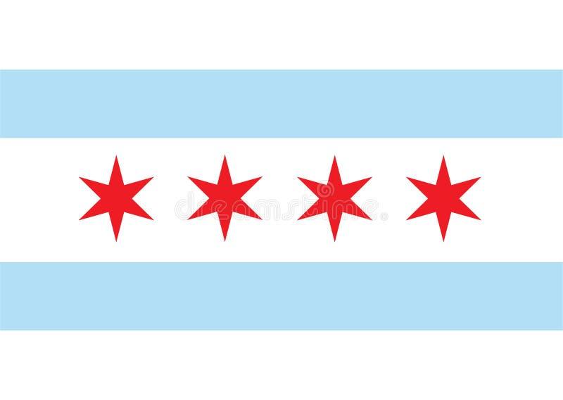 Chicago vektorflagga Chicago stadsflagga, stat av Louisiana, U S A stock illustrationer