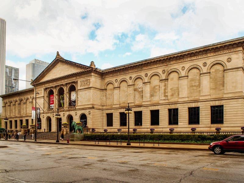 Chicago, Vereinigte Staaten - Art Institute von Chicago-Gebäude lizenzfreie stockbilder
