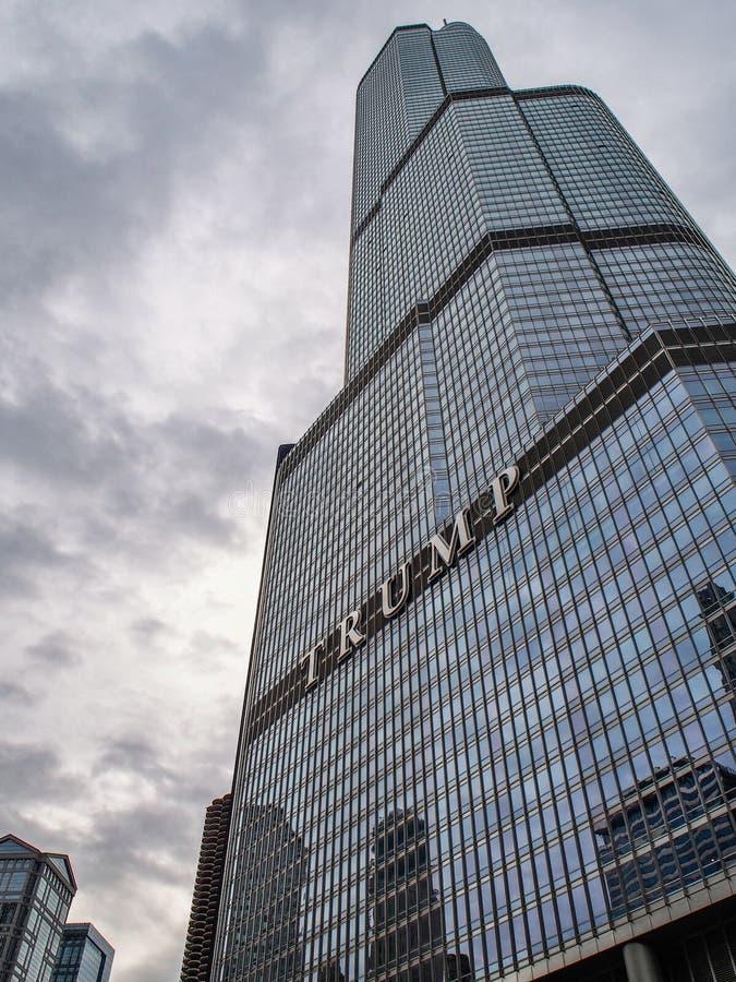 Chicago Verenigde Staten - de Troefbouw in Chicago - Verenigde Staten stock afbeelding