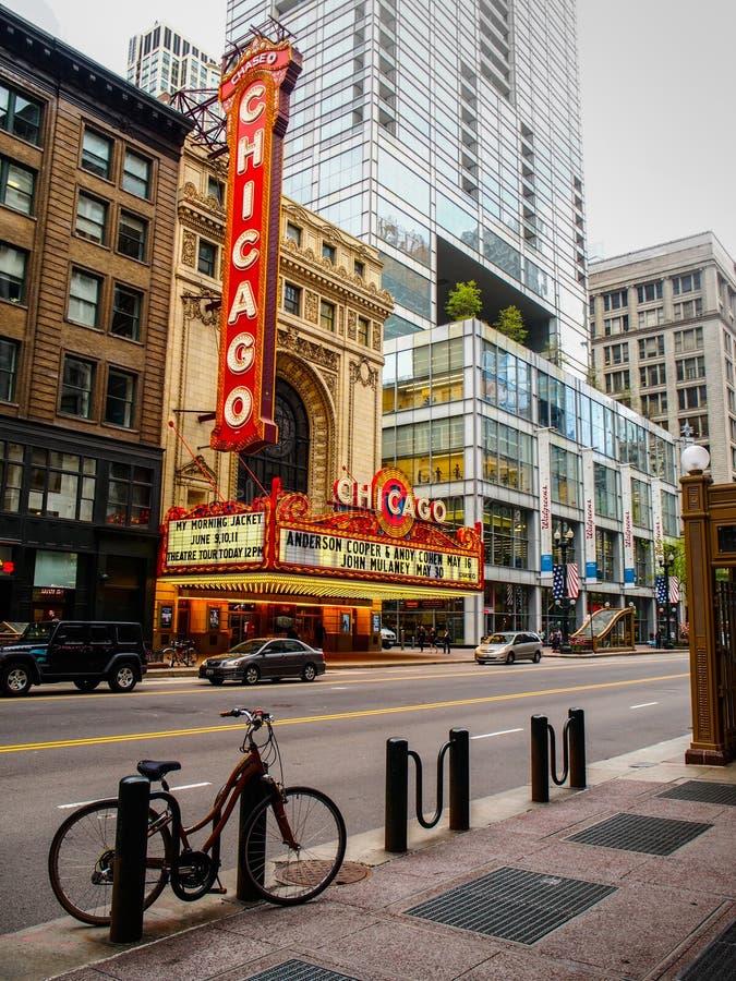 Chicago, Verenigde Staten - het Emblematische theater van Chicago in Chicago, Verenigde Staten royalty-vrije stock foto's