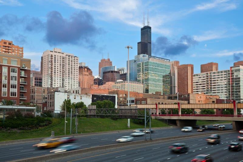 Chicago-Verkehr. lizenzfreie stockfotografie