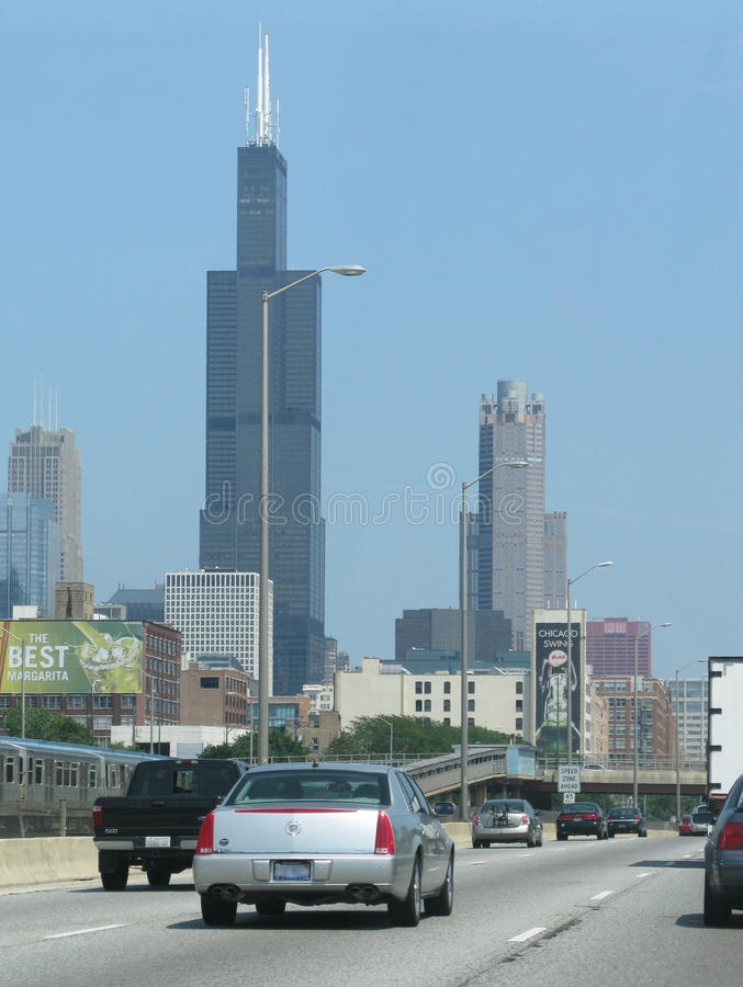 Chicago-Verkehr stockfotos