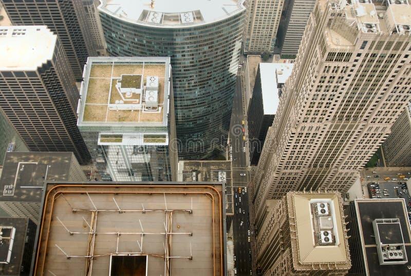 Chicago Vogelauge Ansicht lizenzfreies stockbild