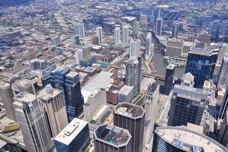 Chicago-Vogelperspektive lizenzfreie stockfotografie